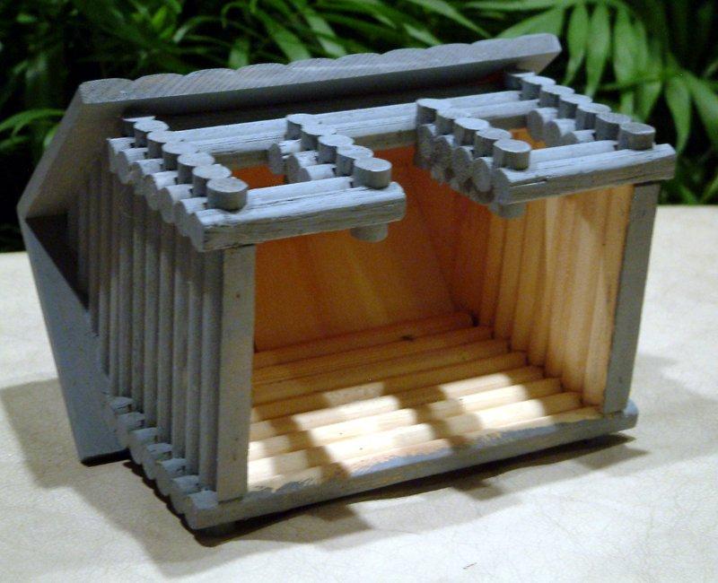 Beau Log Cabin Birdhouse Plans